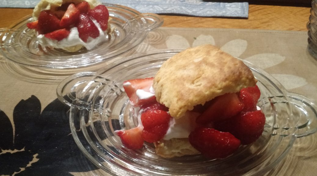 Strawberry Shortcake made with Toaster Biscuits