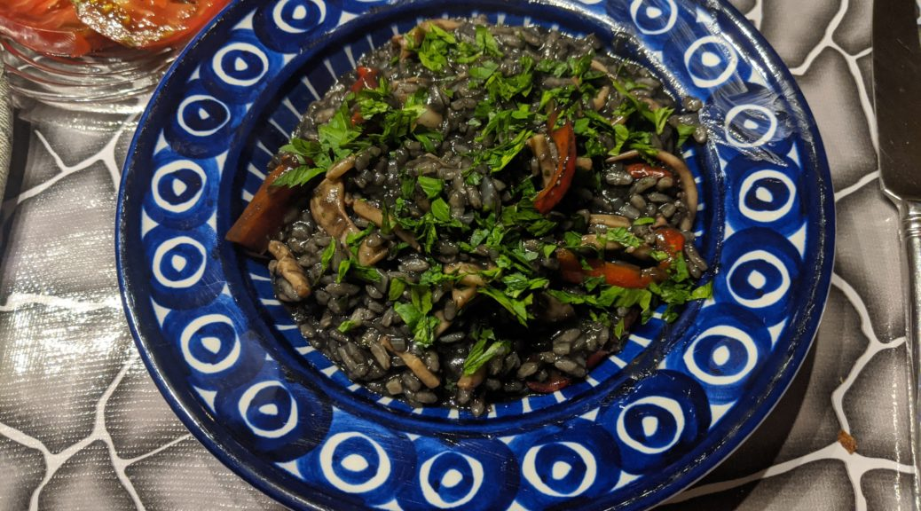 Black Risotto with Braised Squid